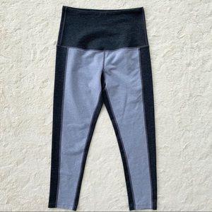 Splits59 gray color block high waisted leggings